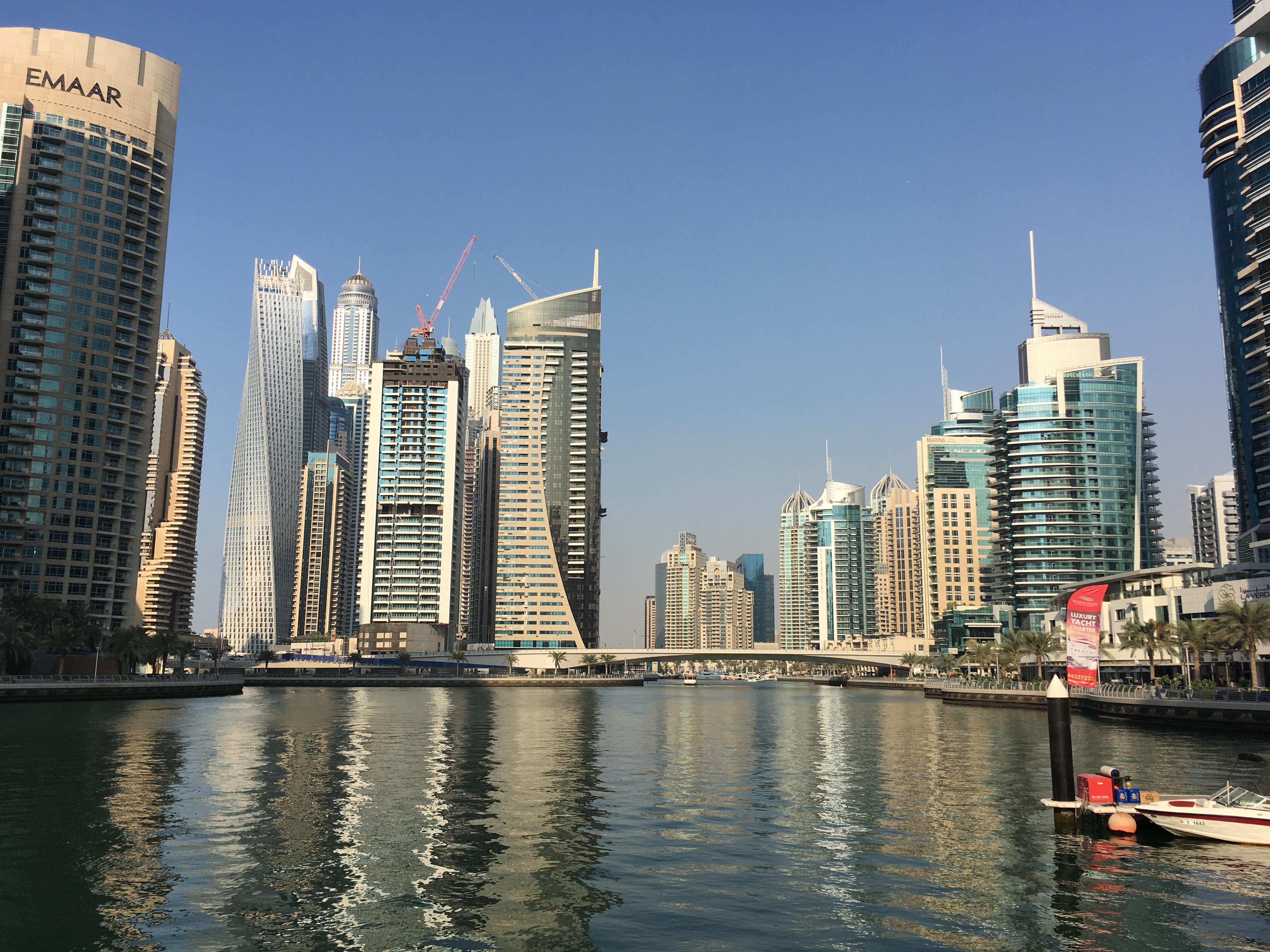 Skyline bei der Dubai Marina